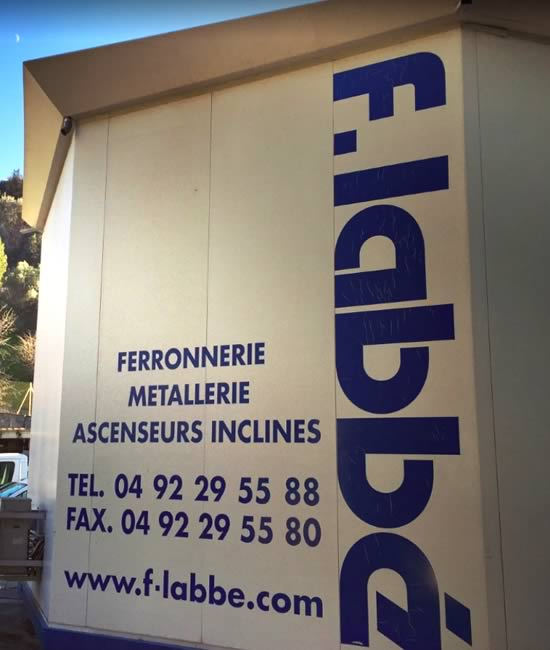 Ferronnerie F.Labbé à Nice quartier St Isidore