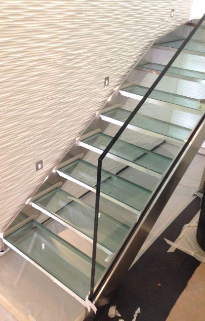 Escalier inox verre ferronnerie Labbé
