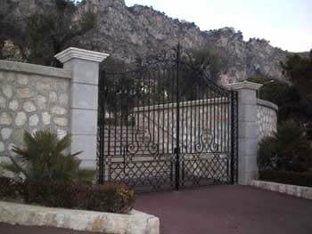 Portail villa fer forgé