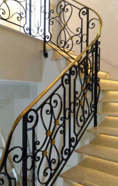 Rampe escalier création ferronnerie Labbé 06